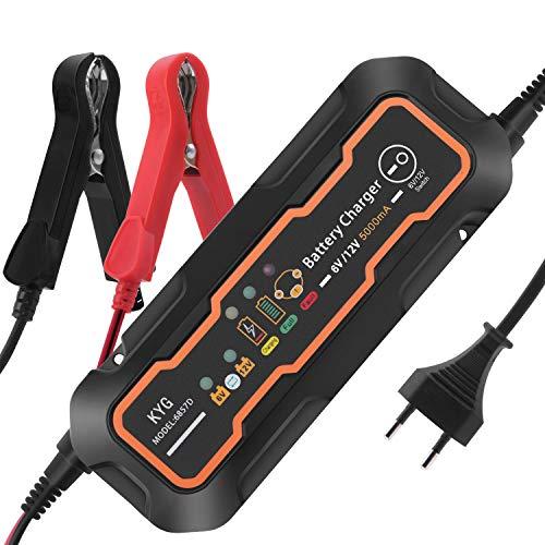 KYG Autobatterie Ladegerät Manuelles Batterieladegerät für Auto und Motorrad ladegerät 6/12V 5A