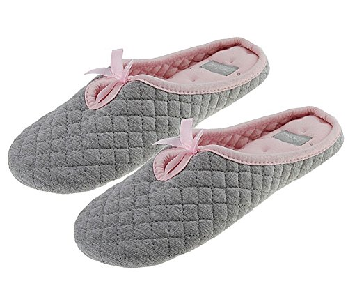 9b48328d8 -66% Christmas House Indoor Slipper, Ladies 100% Superb Soft Quilted Cotton  Home Slippers.