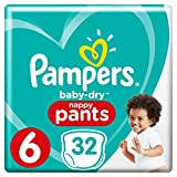 Pampers - Baby Dry Pants - Couches Taille 6 (16+ kg) - Pack Géant (x32 culottes)