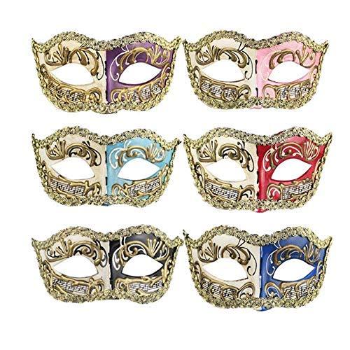 Lvcky Maske Venezianische Maske mit Musik Noten, Kostüm, Ball, Karneval, Maskenball, Party, Halloween, Geburtstag, Weihnachten, Party, Requisiten, 2 ()