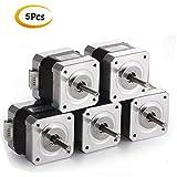 Doris Direct 5PCS Nema 17 Schrittmotor 1.7A 40mm 40N.cm(56.2oz.in) 2-Phasen 4-Draht 1.8 Deg Schrittmotor für CNC XYZ