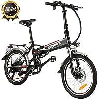 ANCHEER E-Bike Elektrofahrrad, 20 Zoll Pedelec Elektrisches Fahrrad mit Lithium-Akku (36 V 8Ah) & 250 W Motor & Shimano 7-Gang-Schalthebel