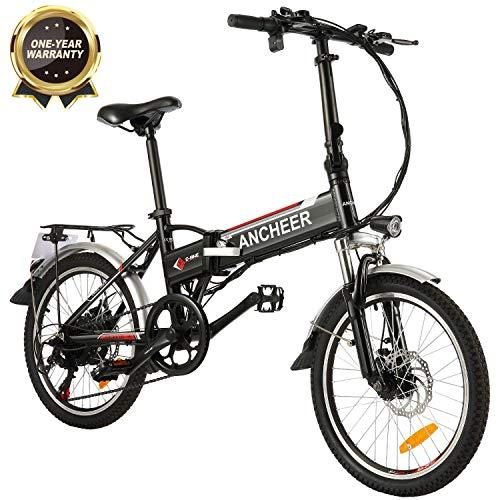 ANCHEER Elektrofahrrad, 20-Zoll E-Bike für Erwachsene mit Lithium-Akku (250 W, 36 V) & 7-Gang-Nabenschaltung