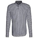 Seidensticker Herren Langarm Hemd Schwarze Rose Slim Fit Washed Button-Down-Kragen grau/weiß kariert 442212.37 (44, Grau)