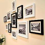 City View Paris Black And White Theme Large Wood Photo Frame Set Of 11 Wooden Frames (135 Cm X 2 Cm X 70 Cm) By Paper Plane Design