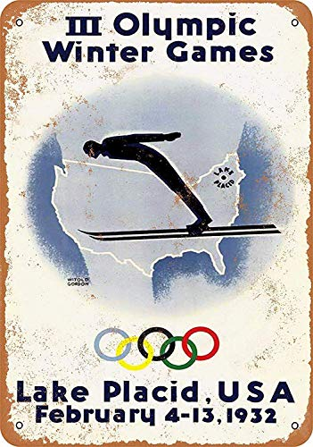 Sary buri Winter Olympics Lake PlacidWandkunst Garage Club Bar Dekoration -
