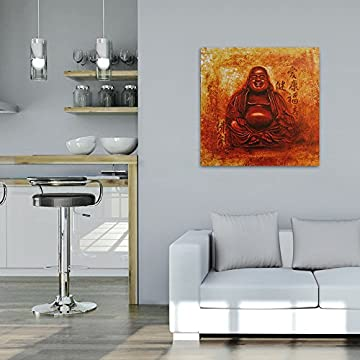 Feeby Frames, Cuadro de pared, Cuadro decorativo, Cuadro impreso, Cuadro Deco Panel, 60x60cm (BUDA, ROJO, AMARILLO, ANARANJADA) 6