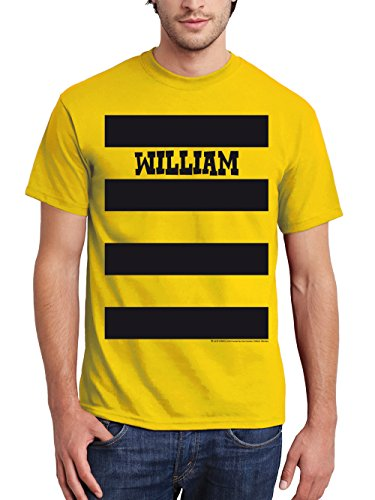 clothinx Herren T-Shirt Lucky Luke Karneval 2019 Die Daltons Gruppen-Kostüm Gelb/William Größe M