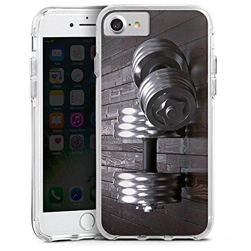 Apple iPhone 6s Bumper Hülle Bumper Case Glitzer Hülle Fitness Training Hanteln Bumper Case transparent