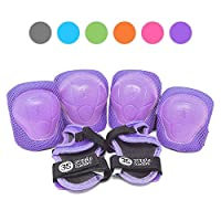 3StyleScooters® SafetyMAX® - Childrens Safety Pads Set In Purple - EN14120 Tested & Certified - Available in 6 Awesome Colours - Have Fun, Stay Safe!