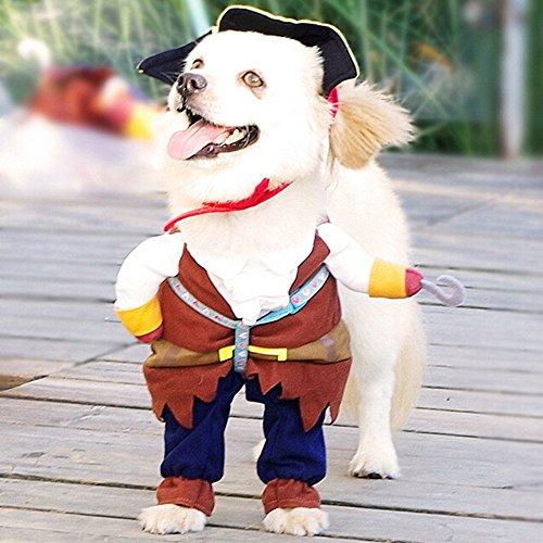 Hunde Kostüm Halloween Pirat Karibisches Piraten Katze Verkleidung Hundebekleidung Lustiger Cosplay (Für Hund Lustig Halloween Kostüme)