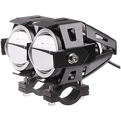 Lemonbest® 2 piezas de la motocicleta del coche LED de la linterna del CREE LED del punto U7 antiniebla delanteros de luz de lámpara DRL Spotlight Conducir Luces diurnas Blue