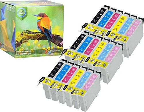 81 Gelbe Patrone (Ink Hero 18-Stück Tintenpatronen Preimum Epson Stylus Photo R200 R220 R300 R300M R320 R330 R340 R350 RX300 RX320 RX500 RX600 RX620 RX640 48 T0487 T0481 T0482 T0483 T0484 T0485 T0486 81)
