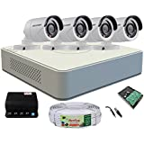 Active Feel Free Life Combo hikvision CCTV Security System (Large, 7A04/6004HGHI-COT-IRP)