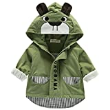 Bebone Baby Junge Jacke Frühjahr Sommer Übergangsjacke mit Kapuze (Grün, 0-3 Monate)