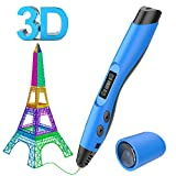 3D Drucker Stift Set, Aerb Intelligent 3D Printing Pen kompatibel mit Pla/ABS Filament + 2 frei 1,75 mm Filament-Minen,