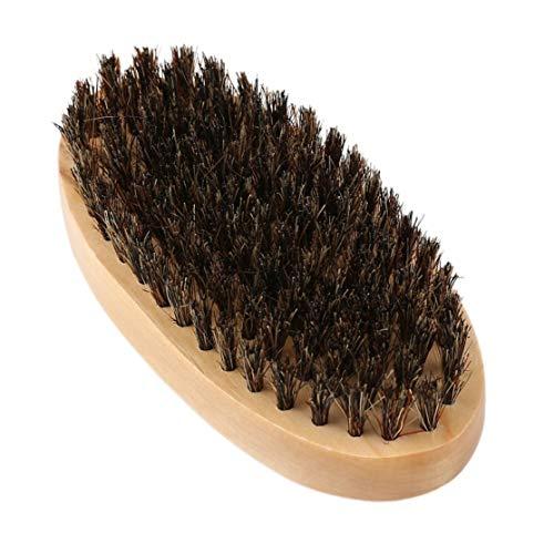 LouiseEvel215 Praktische ovale Form Männer Eber Haar Borsten Gesichts Bart Schnurrbart Pinsel Hart Runde Holz Griff Gesicht Nachricht