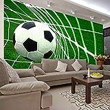 MGQSS Murale Stadio della scuola di football goal scene Fotografie Sfondo Immagini Autoadesiva PVC Sfondo 3D Vintage Barbiere Parrucchiere Capelli bellezza sfondo Murale Sfondo 3D In (L)250x(H)175 cm