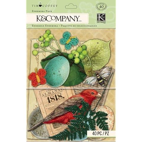K&Company Scrapbooking Ephemera Pack, Tim Coffey Foliage by K&Company