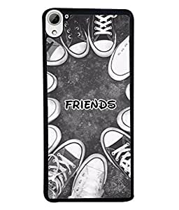 PrintVisa Designer Back Case Cover for HTC Desire 826, HTC Desire 826 Dual Sim (Shoes Circle Youth Cool Friendship Foot Beautiful Red)