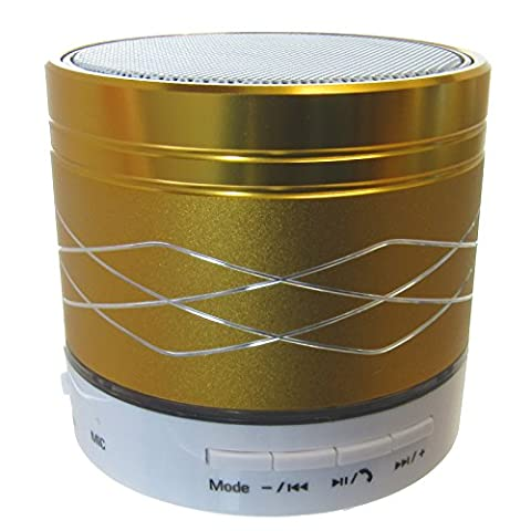 Gold Mini Portable Bluetooth Speaker With Metal Casing Design For Smartphones, Tablets & Computers