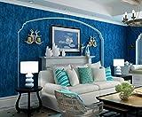 Lbonb Dunkelblaue Mittelmeer Tapete Schlafzimmer Wohnzimmer Reine Farbe Tapete Hintergrund Tapete Vlies Bekleidungsgeschäft