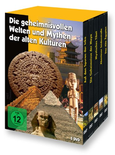 Die geheimnisvollen Welten und Mythen der alten Kulturen (Maya - Inka - Ägypten - Tibet - Seidenstraße) - 5 DVD Box -