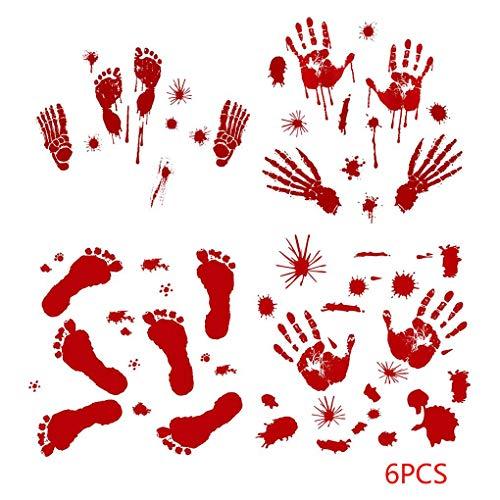 ge Abdrücke Boden Haftet Halloween Zombie-Partei-Dekorationen Abziehbild-Aufkleber ()
