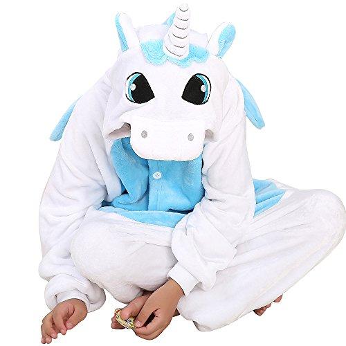 Kinder Kostüm Einhorn Pyjama Tierkostüm Schlafanzug