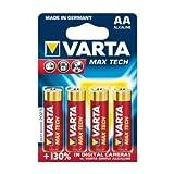 Varta Max Tech Alkaline LR6 Batterie 4er Blister,...
