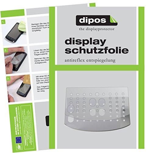 dipos I 3X Schutzfolie matt passend für DeLonghi Magnifica S ECAM 22.110 + 21.117 + 21.116 Tropfblech Folie Displayschutzfolie