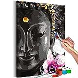 murando - Malen Nach Zahlen Buddha 40x60cm Malset DIY n-A-0550-d-a