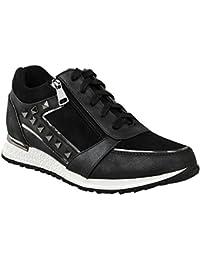 Suchergebnis auf Amazon.de für  Schwarze Sneaker mit Nieten - Damen ... 7baa0ccbee