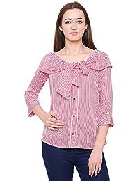 28a28e70cb30f Fashion Village Tye Style Stripe top for Women s Girls