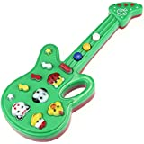 zolimx Electrónicos juguetes de guitarra, música de la rima, buen regalo para el bebé (El color es aleatorio)