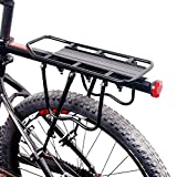 Fahrrad Gepäckträger, OUTOS Verstellbare Universal Aluminiumlegierung 110lb Max Ladekapazität Gepäck (Fahrrad Gepäckträger)