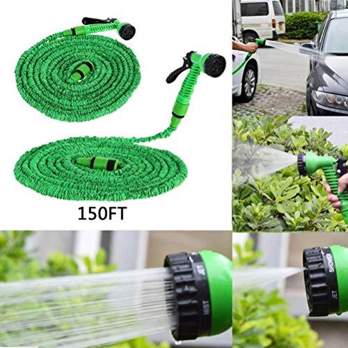 Flexible Gartenschläuche 45M/150FT,Wasserschlauch Set Erweiterbar Dehnbar Garden Schlauch Brause Düse mit 7 Funktionen für Autowäsche,Gartenbewässerung,Hof