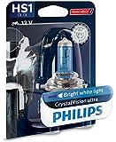 Philips 12636BVBW CrystalVision ultra Moto HS1 Motorrad-Scheinwerferlampe, 1...