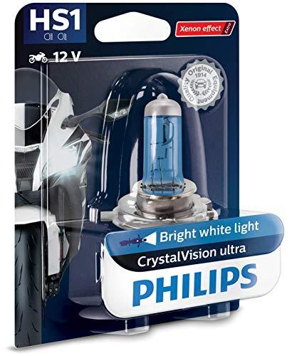 Philips 12636BVBW CrystalVision ultra Moto HS1 Motorrad-Scheinwerferlampe, 1 Stück