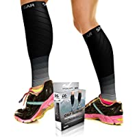 Physix Gear Sport Compression Calf Sleeves for Men & Women (20-30mmhg) - Best Footless Compression Socks for Shin Splints, Running, Leg Pain, Nurses & Maternity Pregnancy - Increase Blood Circulation