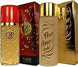 Perfumes Para Mujer (Set de 2 unidades individuales) Formulados en Francia OP + The One Gold by Black Onix 100ml Regalos de Primera Calidad de lujo al mejor precio.