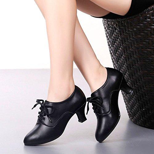 DGSA Square Dance Shoe Standard Tanz Schuh Latin Dance Shoe Der Wein ist rot outdoor Gummi