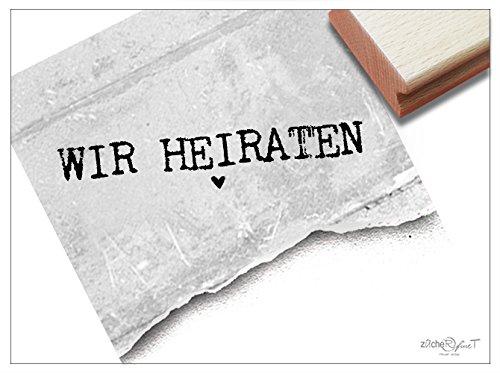 Stempel - T 16 16 - Hochzeitsstempel WIR HEIRATEN mit gebraucht kaufen  Wird an jeden Ort in Deutschland