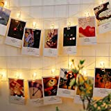 Techno E-Tail 20 LED Photo Clip String Lights, Home Decoration Hanging Fairy Lights, 20 Photo Clips Warm White