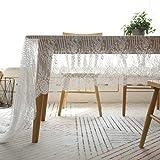 GZ-tablecloth Nordic Lace Tischdecke - Serviette Couchtisch Wimpern literarische Cafe Book Tischdecke - Weiß