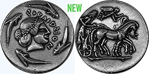 """Poseidon, God of the Sea, """"Earth Shaker"""" coin, (#82-S) 27 mm, 10 g, (Larger that US Quarter 24"""
