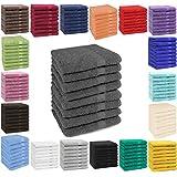 Betz Lot de 8 serviettes taille 50x100 cm 100% coton Set de 8 serviettes de toilette Premium color blanc