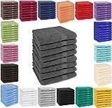 Betz 8 Stück Handtücher Set Handtuch Premium 100% Baumwolle 8 Stück Handtuch Größe 50x100 cm Farbe anthrazit