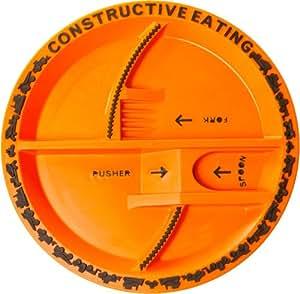 Constructive Eating - Plateau Enfants Pour Usage Avec Ustensiles Constructive Eating