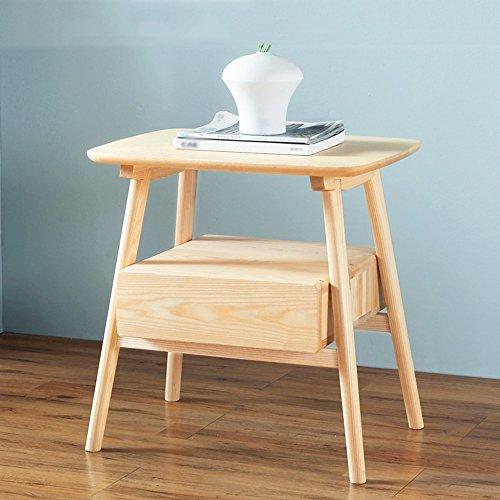 Mensola mobile da comodino in legno massello semplice armadio in legno di frassino armadietto da comodino in camera da letto mobili per la protezione dell'ambiente ripiani